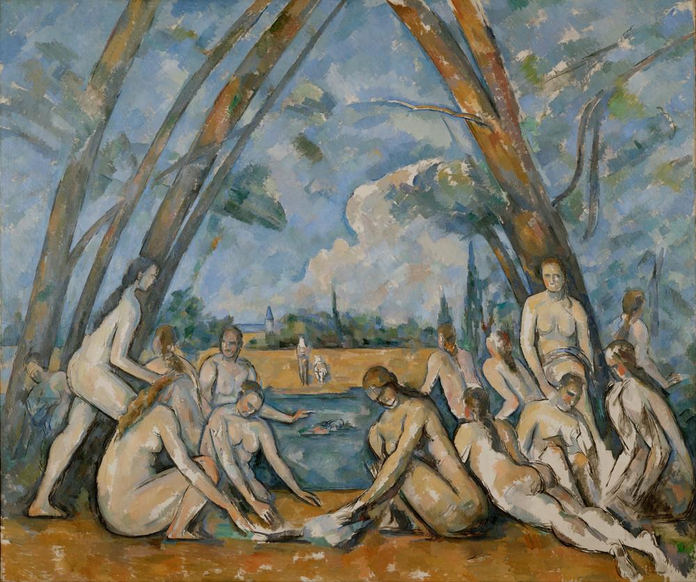 Paul Cézanne,  Les Grandes Baigneuses , 1898–1905, Philadelphia Museum of Art.