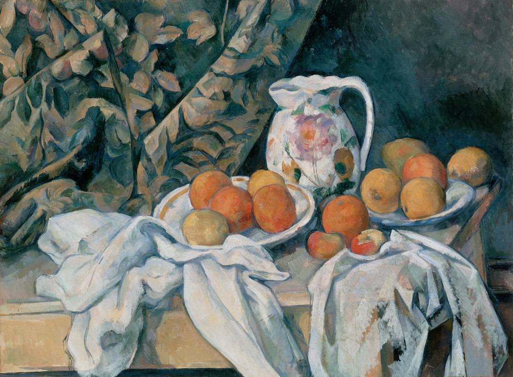 Paul Cézanne, Still Life with a Curtain, c. 1898, Hermitage Museum.