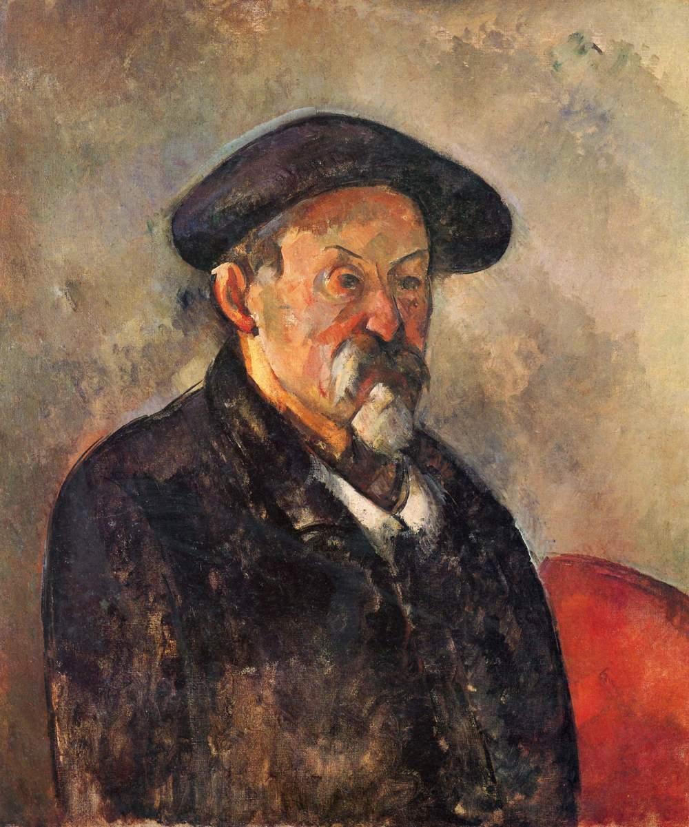 Paul Cézanne,  Self-portrait with Beret,  1898–1900, Museum of Fine Arts, Boston.