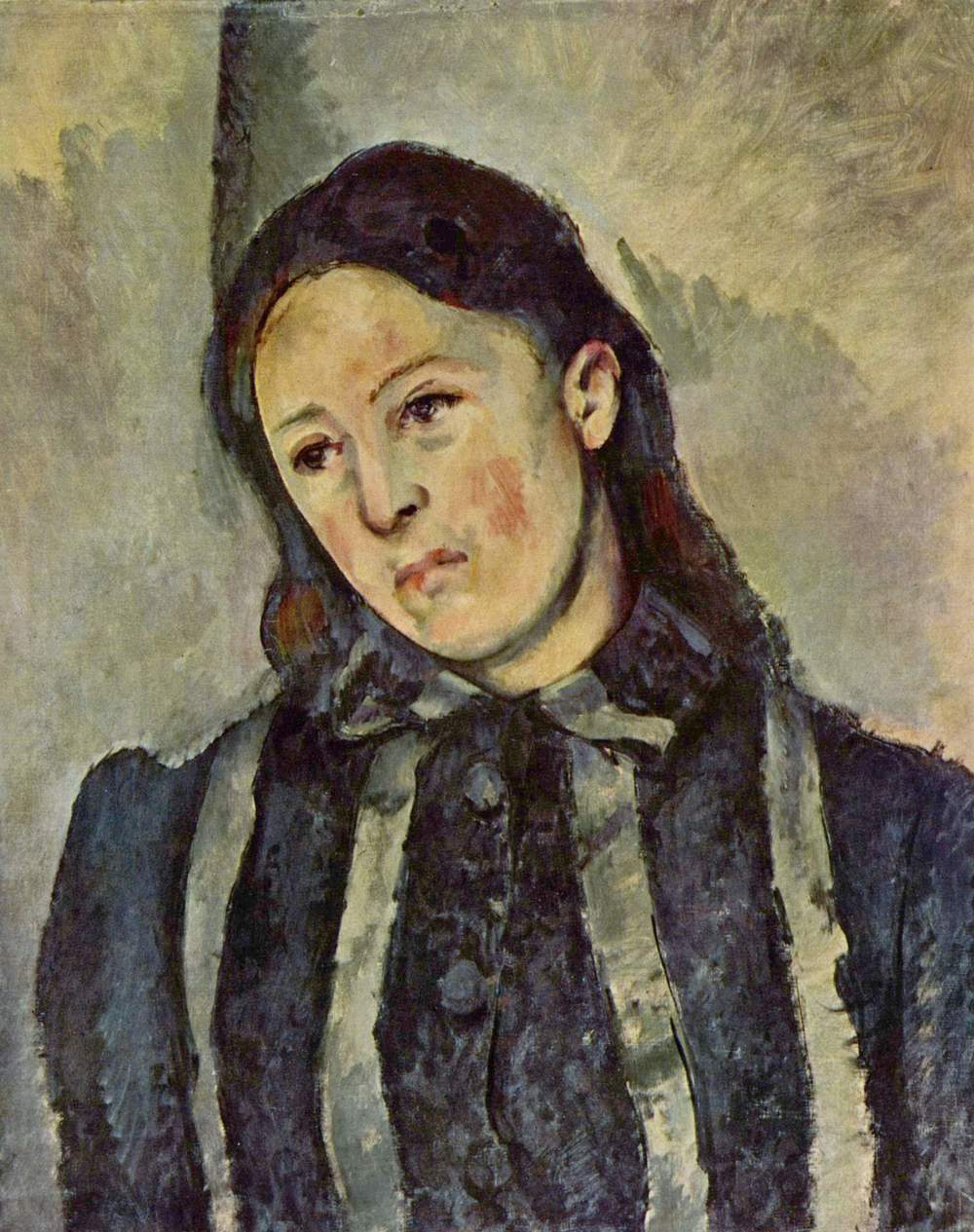 Paul Cézanne, Portrait of Madame Cézanne with Loosened Hair, 1883-1887, Philadelphia Museum of Art.