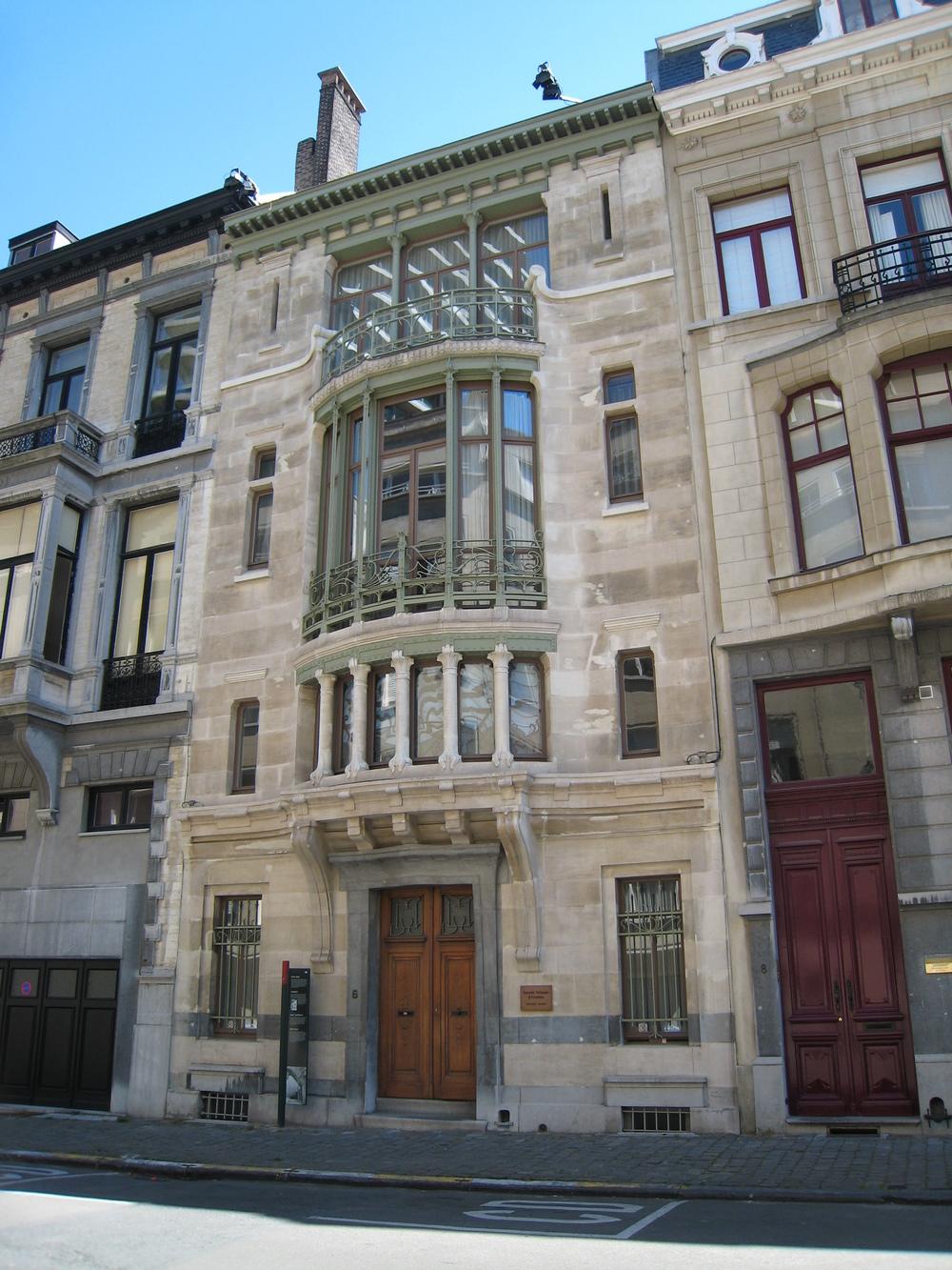 Victor Horta,  Hôtel Tassel  , 1893-1894. Brussels.