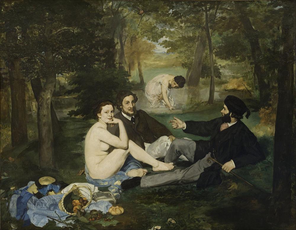 Édouard Manet,  The Luncheon on the Grass (Le déjeuner sur l'herbe) , 1863, Musée d'Orsay.