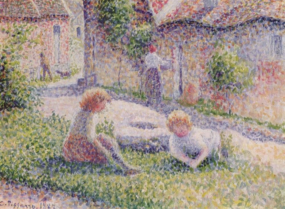 Camille Pissarro,  Children on a Farm , 1887. Private Collection.