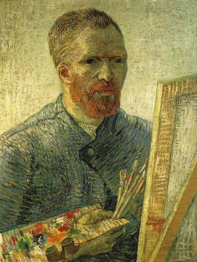 Vincent van Gogh,  Self portrait as a painter , 1888, Van Gogh Museum, Amsterdam.