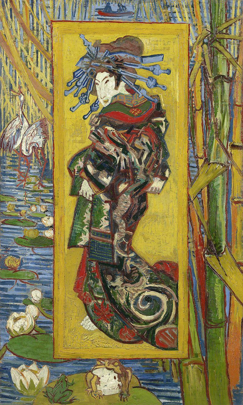 Vincent van Gogh,  Courtesan (after Eisen) , 1887, Van Gogh Museum.