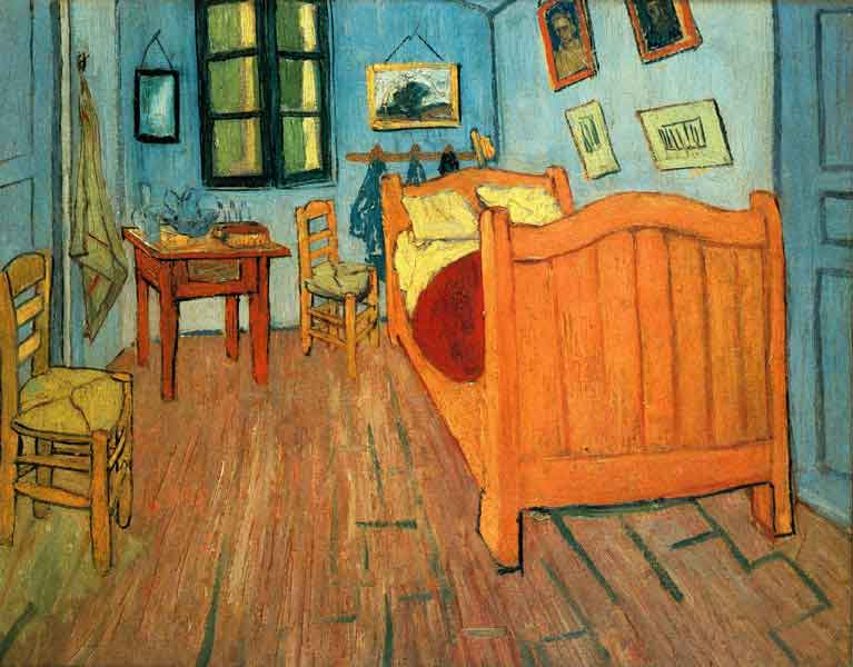 Vincent van Gogh,  Bedroom in Arles , 1888, Van Gogh Museum.