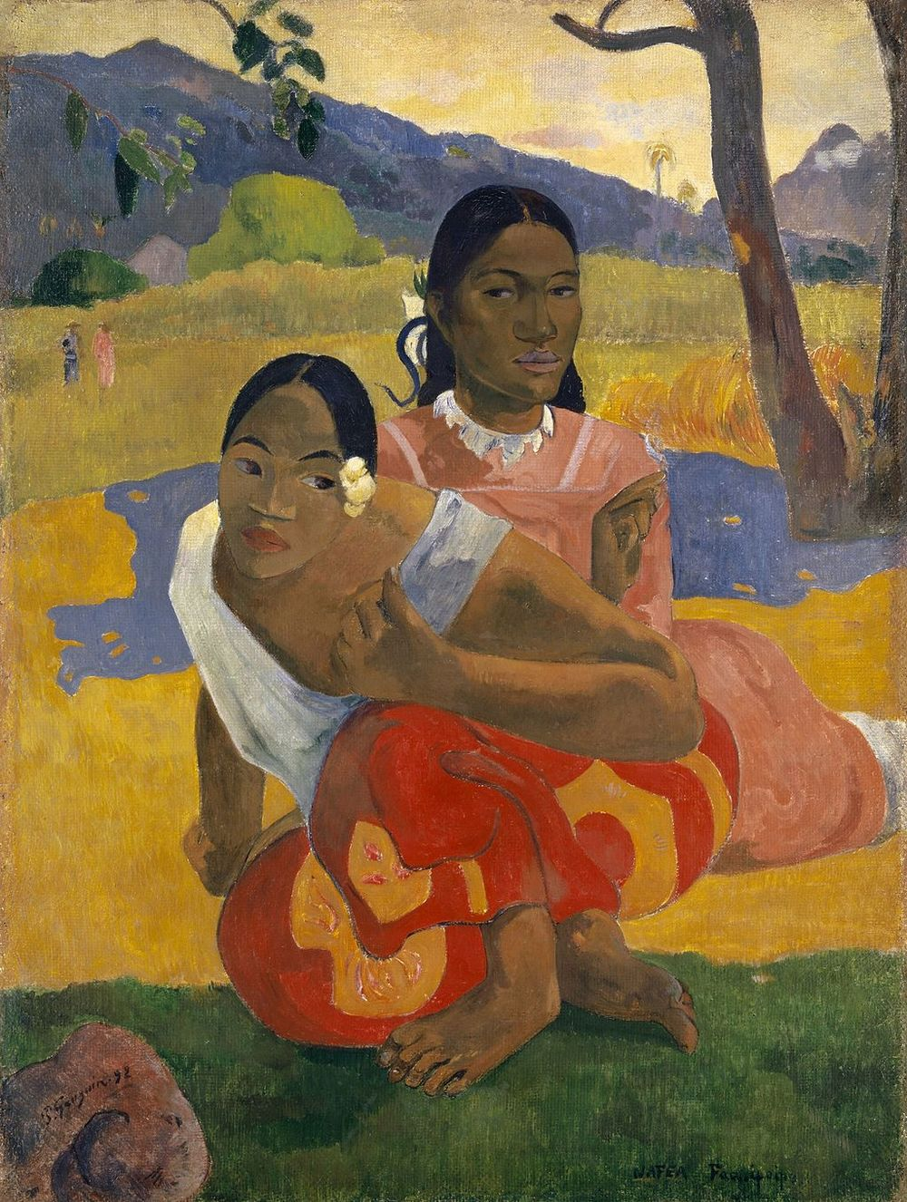 Paul Gauguin, Nafea Faa Ipoipo (When Will You Marry?), 1892, Private Collection.