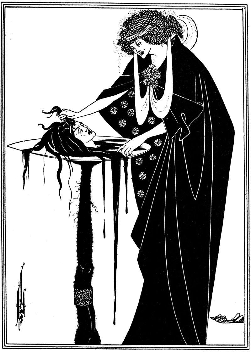 Aubrey Beardsley,  The Dancers Reward,  from  Salomé , 1893.