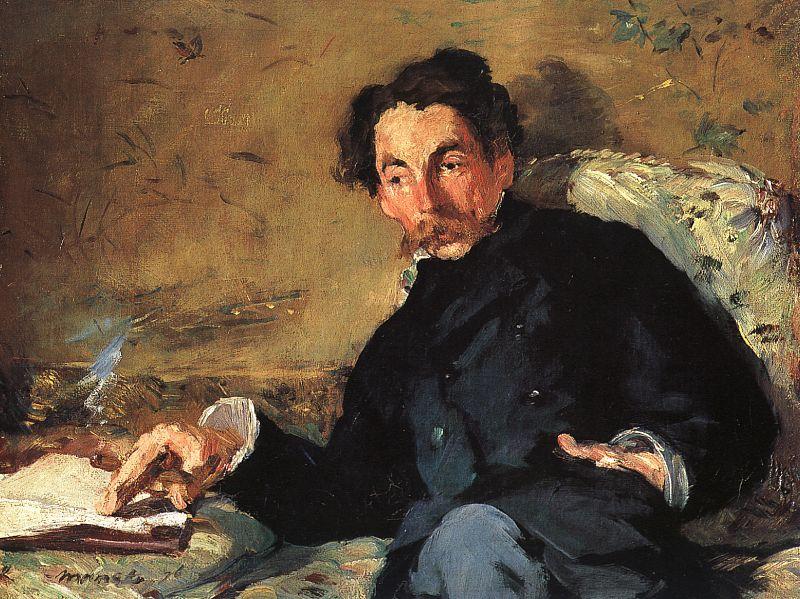 Édouard Manet,  Portrait of Stéphane Mallarmé , 1876, Musée d'Orsay, Paris.