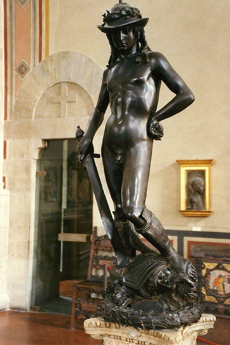 Donatello,  David , 1430 - 1432, Bargello Palace and Museum, Florence.