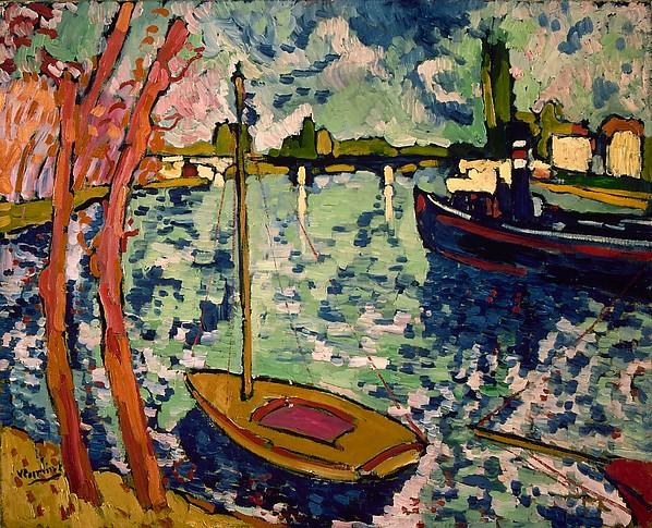 Maurice de Vlaminck,  The Seine at Chatou , 1906, Metropolitan Museum of Art.