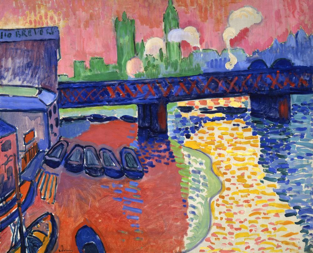 André Derain,  Charing Cross Bridge, London , 1906, National Gallery of Art, Washington, D.C.