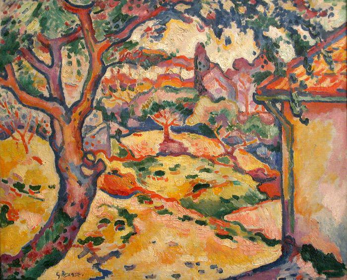Georges Braque,  L'Olivier près de l'Estaque (The Olive tree near l'Estoque), 1906, Musée d'Art Moderne de la Ville de Paris.