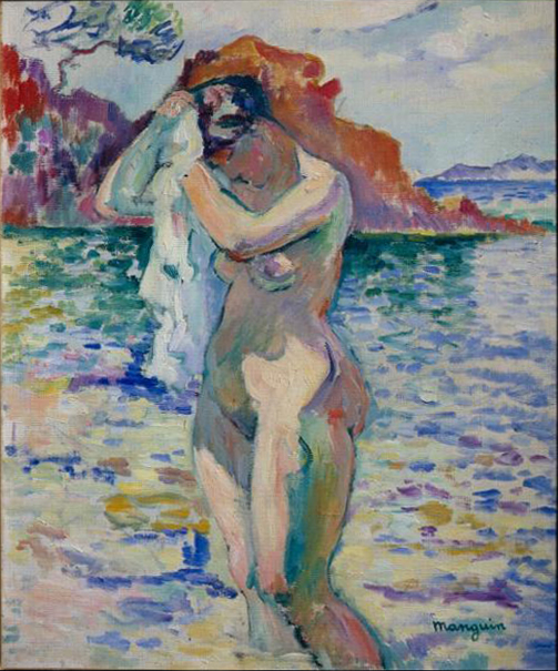 Henri Manguin, Baigneuse (Woman Bather), 1906, Pushkin Museum, Moscow.