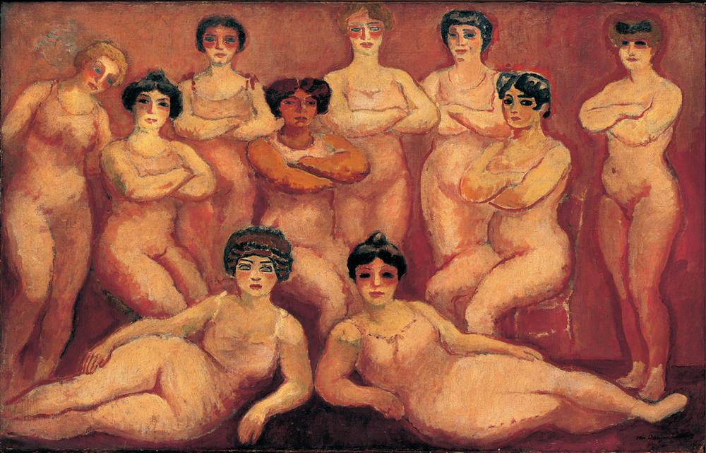 Kees van Dongen,  Les Lutteuses du Tamarin (The Wrestlers of Tamarin) , 1907-08, Nouveau Musée National de Monaco.