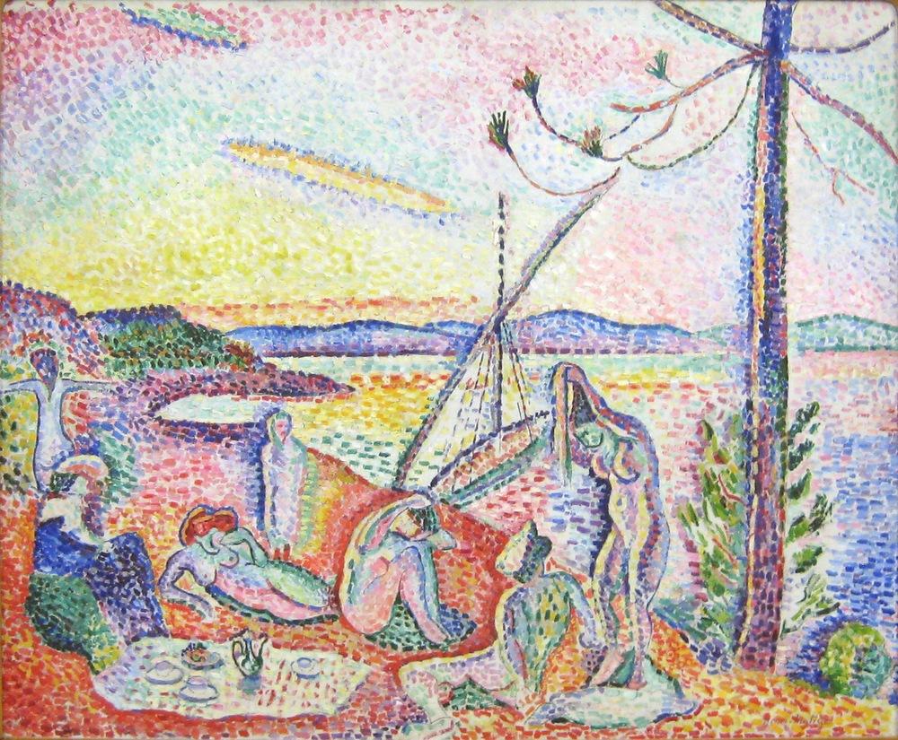 Henri Matisse,  Luxe, Calme et Volupté (Luxury, calm and voluptuousness) , 1904, Musée d'Orsay, Paris.