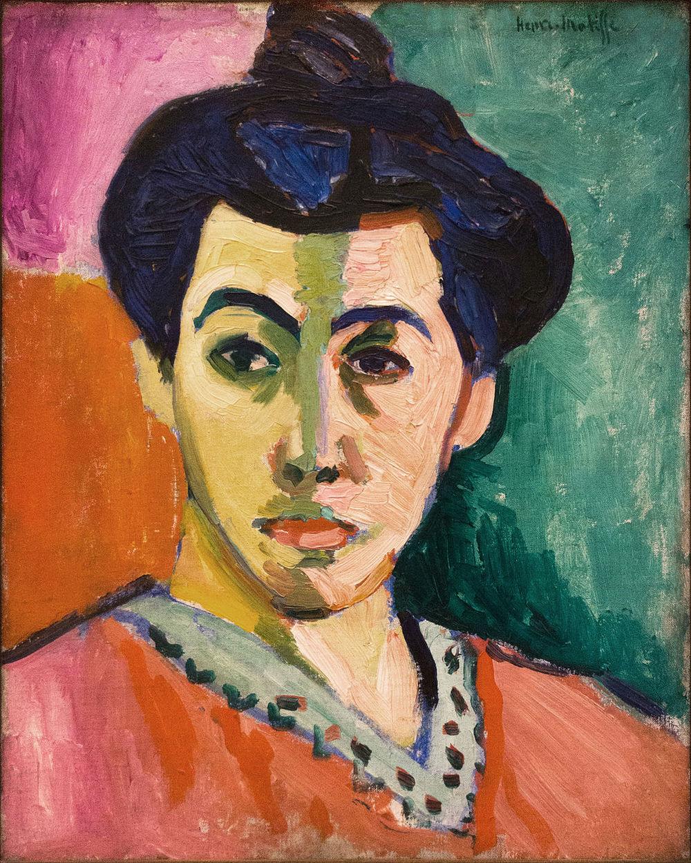 Henri Matisse,  Portrait of Madame Matisse. The Green Line , 1905, Statens Museum for Kunst, Copenhagen.
