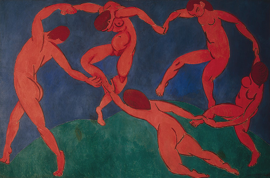 Henri Matisse,  The Dance , 1910, Hermitage Museum, St. Petersburg.