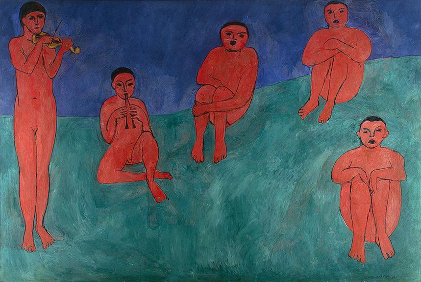 Henri Matisse,  Music , 1910, Hermitage Museum, St. Petersburg.