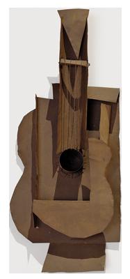 Pablo Picasso,  Guitar , 1912, Metropolitan Museum of Art, New York.