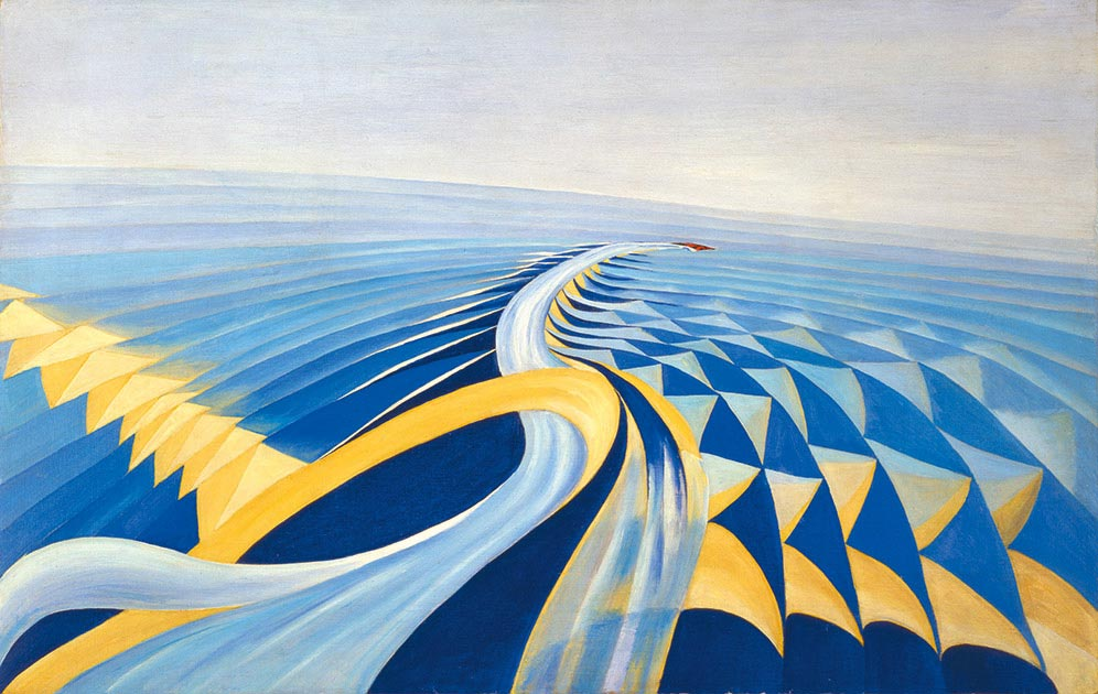 Benedetta (Benedetta Cappa Marinetti),  Speeding Motorboat , 1923–24, Galleria d'Arte Moderna di Roma.