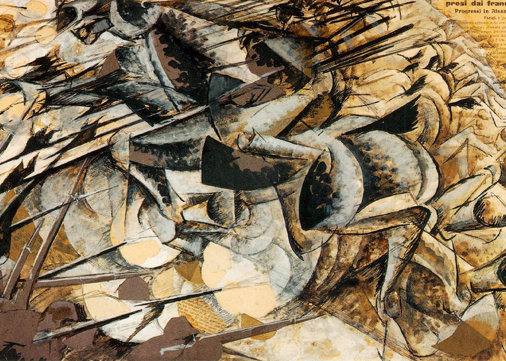 Umberto Boccioni, Charge of the Lancers, 1915, Collection of Riccardo and Magda Jucker, Milan.