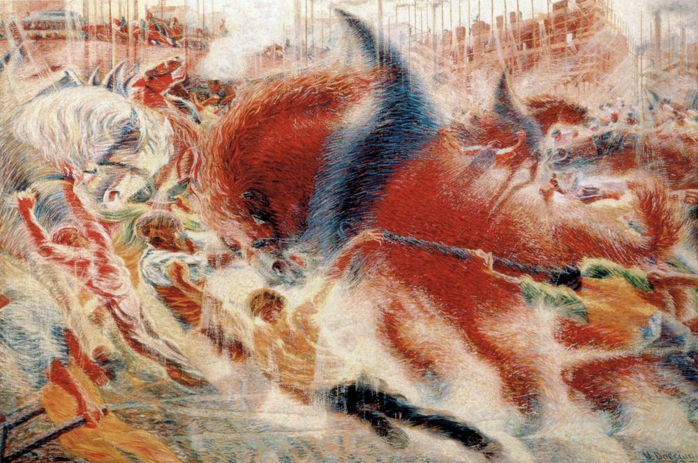 Umberto Boccioni,  The City Rises , 1910, Museum of Modern Art, New York.