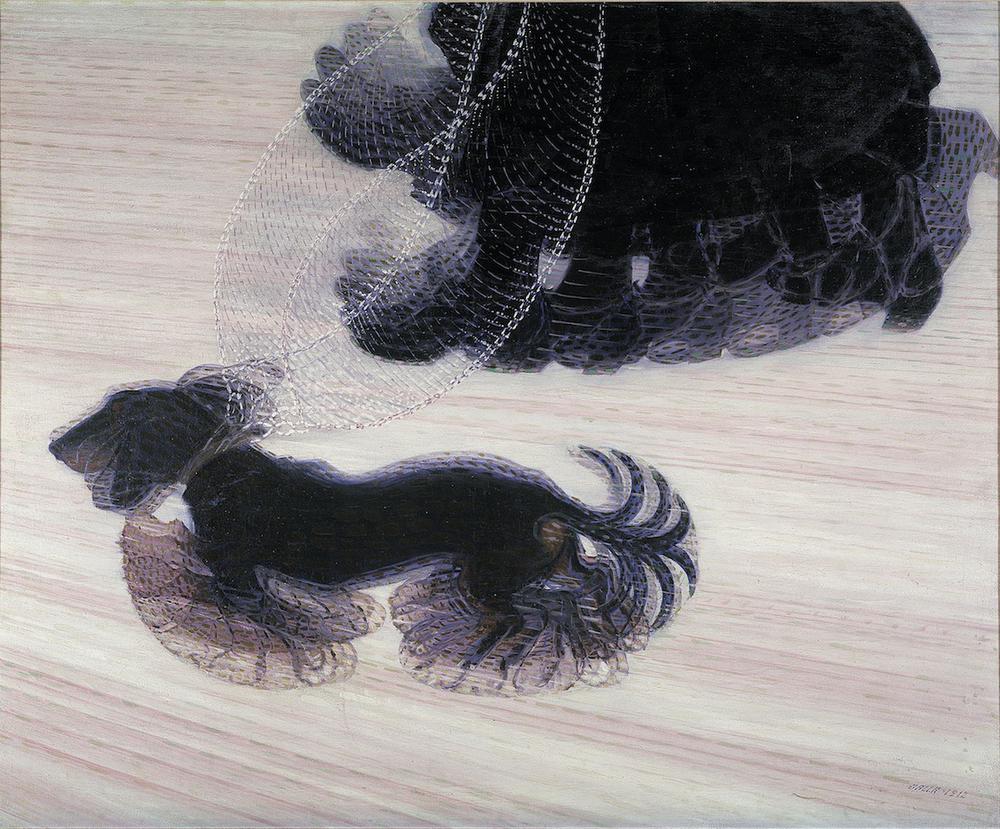 Giacomo Balla,  Dynamism of a Dog on a Leash , 1912, Albright-Knox Art Gallery.