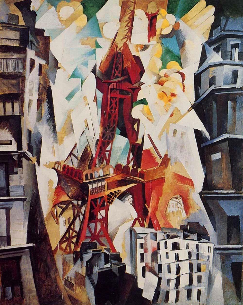 Robert Delaunay,  Champs de Mars, La Tour rouge , 1911, Art Institute of Chicago.