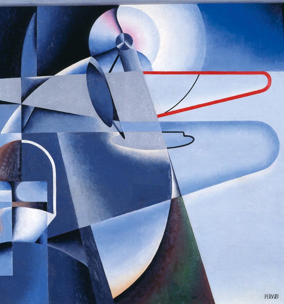 Osvaldo Peruzzi,  Aeropittura , c.1934, Galleria d'Arte Moderna di Roma Capitale.