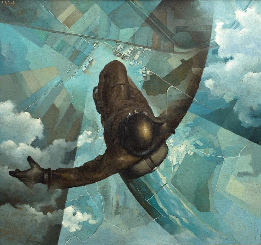 Tullio Crali,  Before the Parachute Opens , 1939, Museo d'Arte Moderna e Contemporanea, Udine.