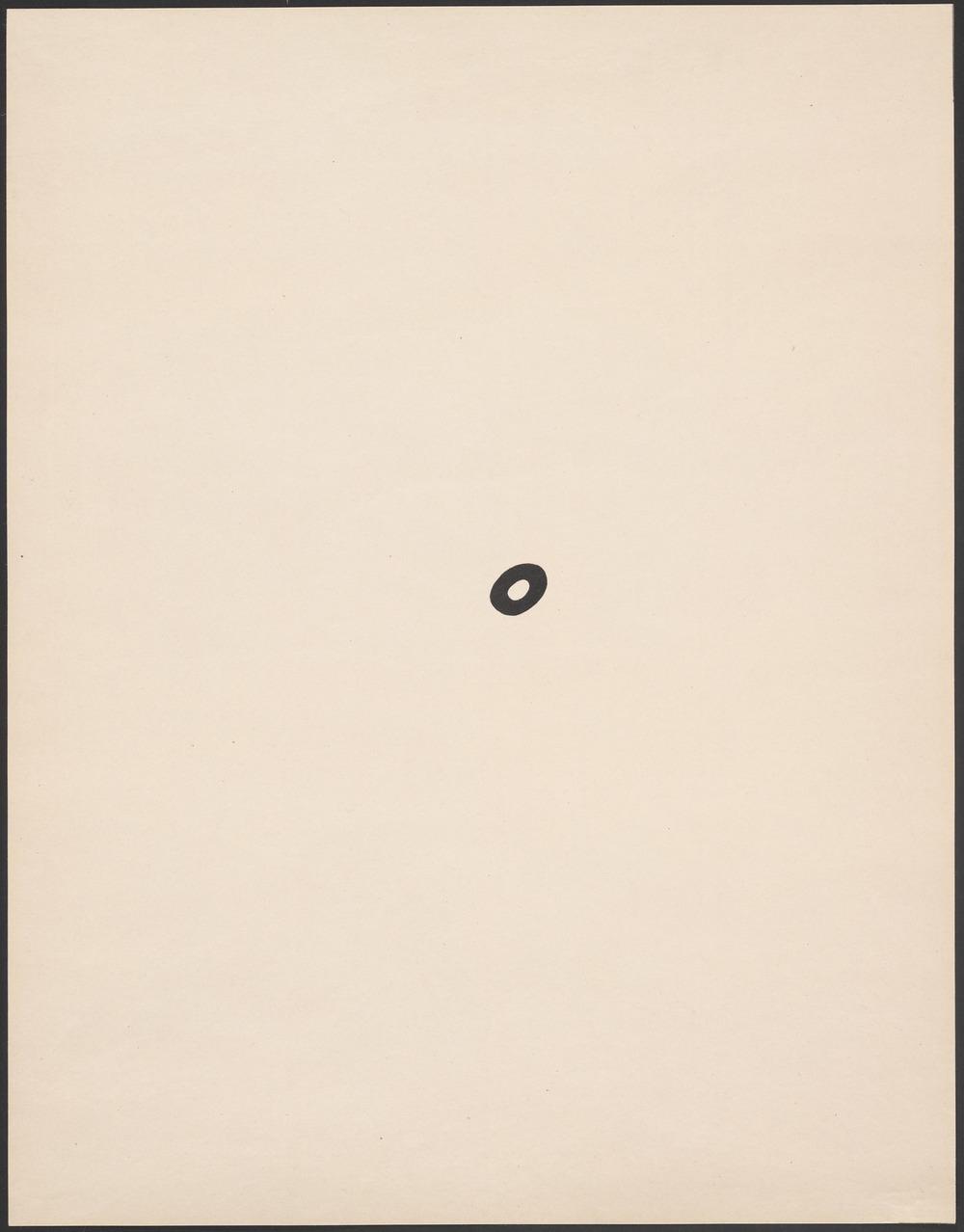 Jean (Hans) Arp,  A Navel , 1923, Museum of Modern Art, New York.