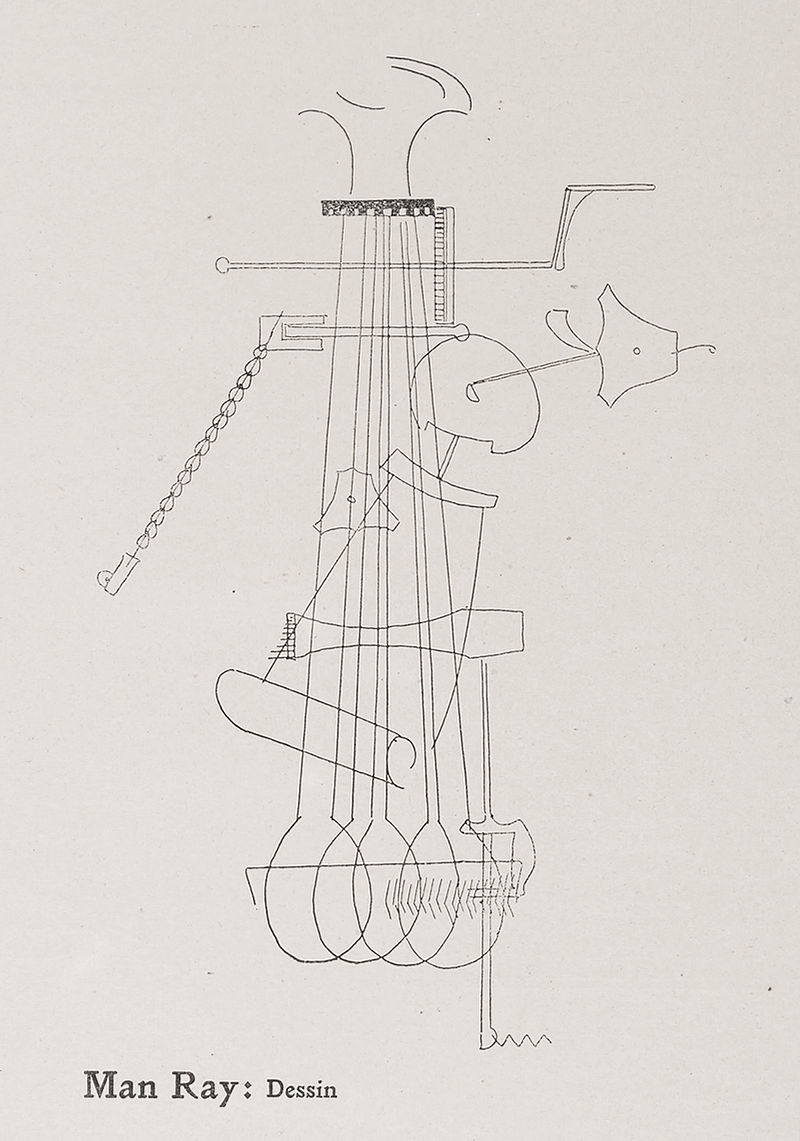 Man Ray, Dessin (Drawing), published on page 43 of Der Sturm, Volume 13, Number 3, 5 March 1922.