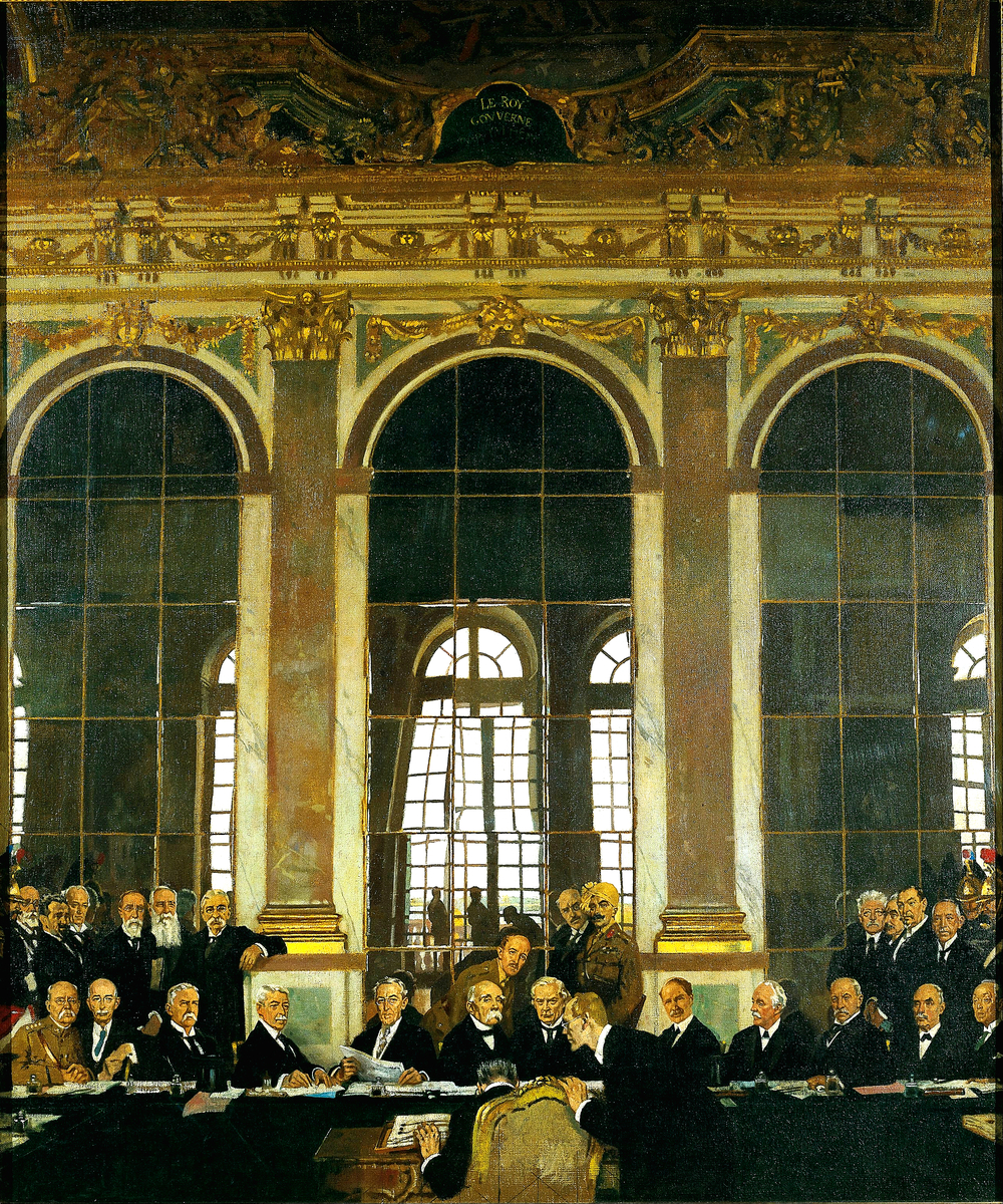 William Orpen, The Signing of Peace in the Hall of Mirrors, Versailles, 28th June 1919, Imperial War Museum, London.