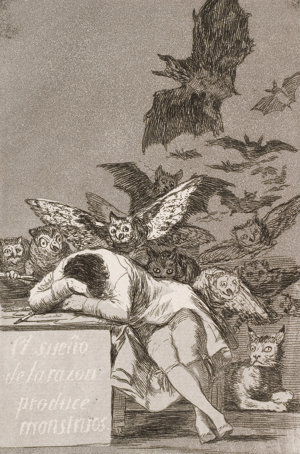 Francisco Goya, The Sleep of Reason Produces Monsters, c. 1799.