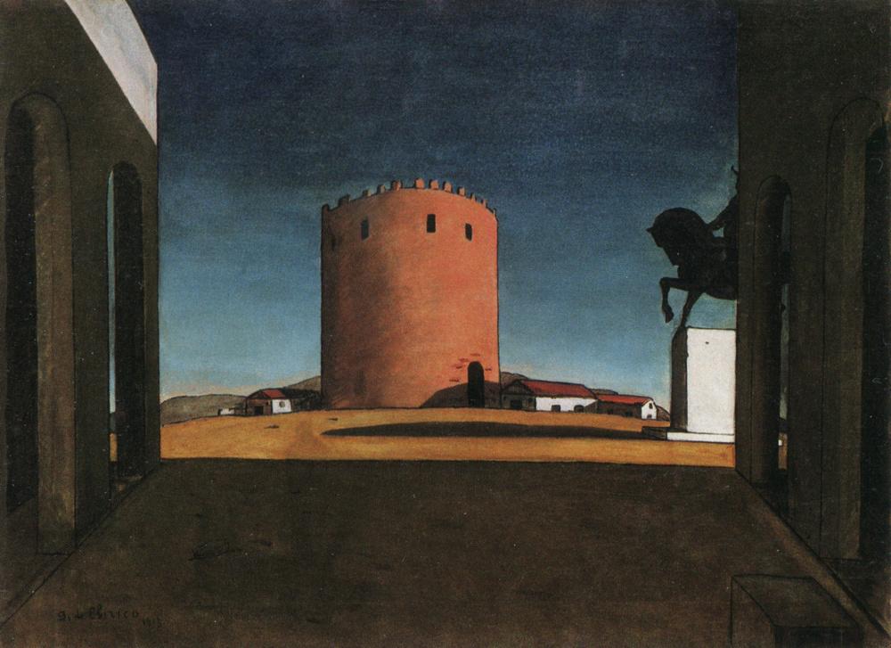 Giorgio de Chirico,  The Red Tower , 1913, Guggenheim Museum, New York.