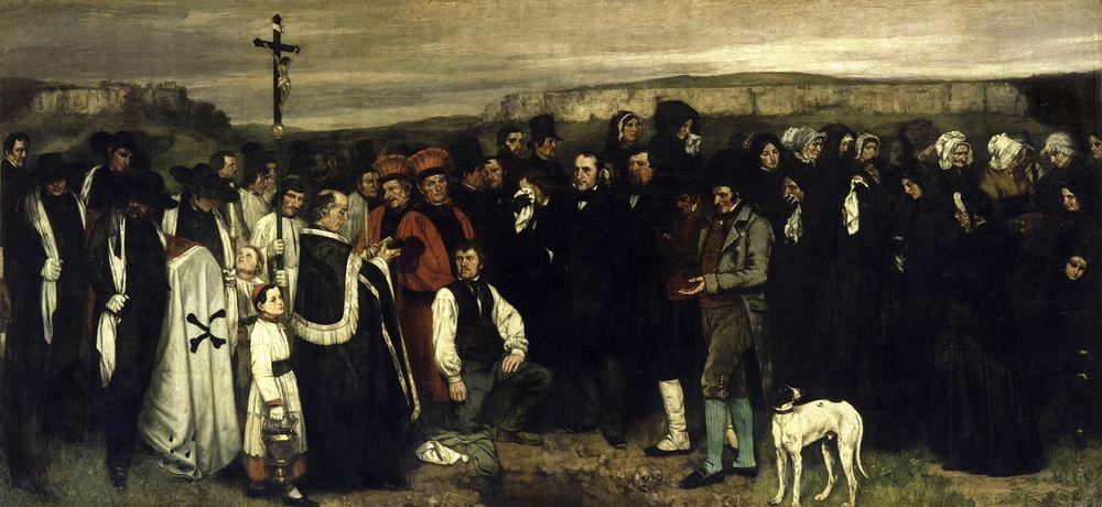 Gustave Courbet, A Burial at Ornans, 1849–50, Musee d'Orsay, Paris.