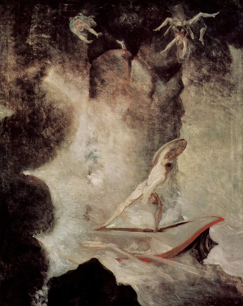 Henry Fuseli, Odysseus in front of Scylla and Charybdis, 1794–1796, Kunsthaus Aarau, Switzerland.