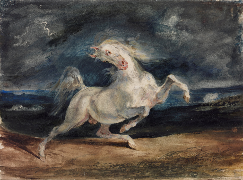 Eugène Delacroix, Horse Frightened by a Storm, 1824, Museum of Fine Arts, Budapest.