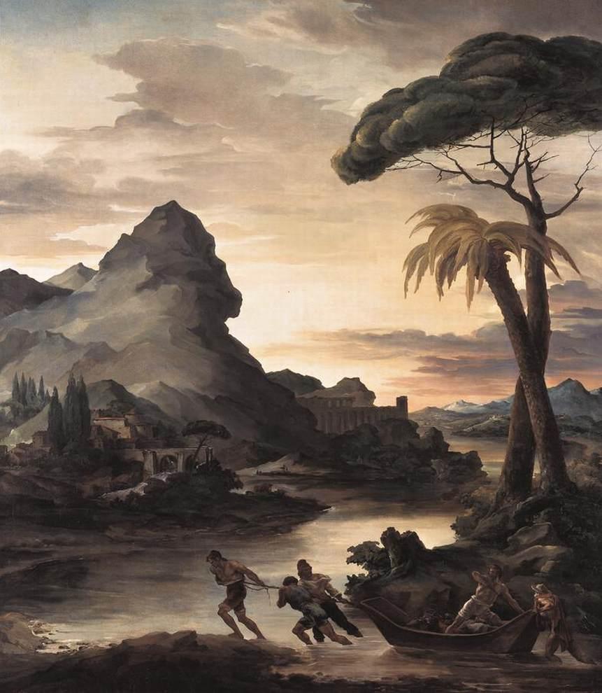 Théodore Géricault,  Heroic Landscape with Fishermen , 1818, New Pinakothek, Munich.