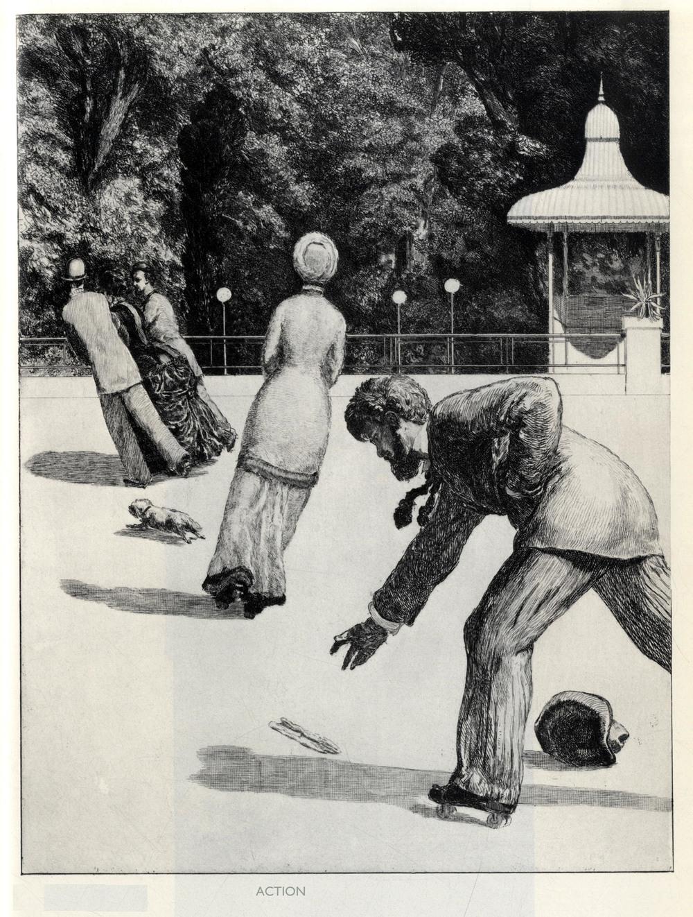 Max Klinger,  A Glove:  Action , 1881.