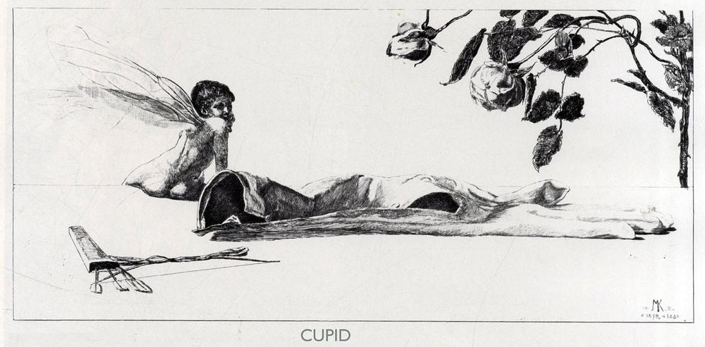 Max Klinger,  A Glove: Cupid  , 1881.