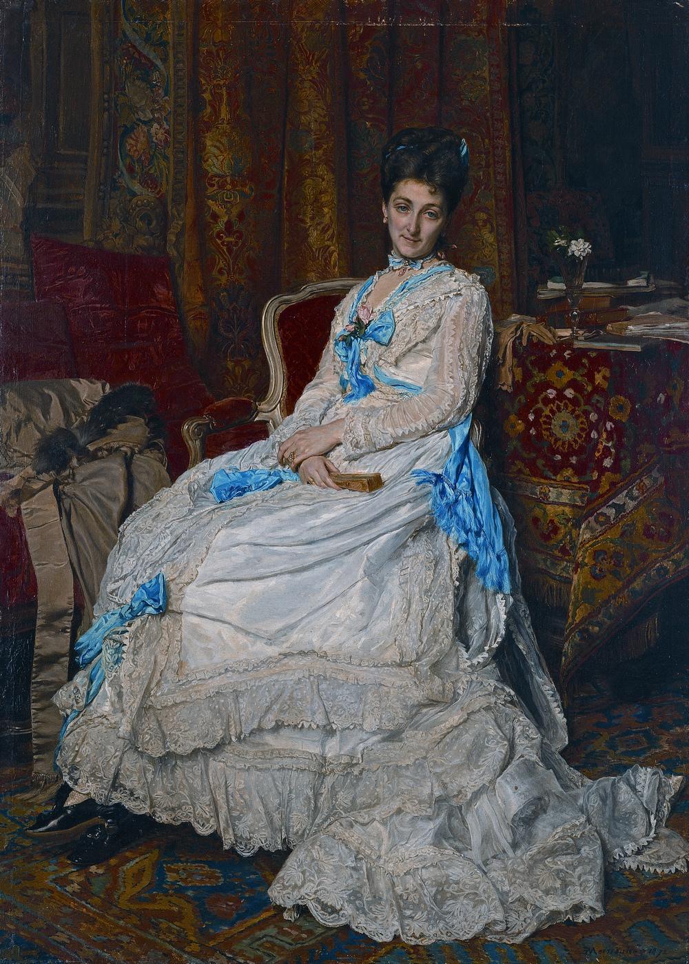Jean-Louis-Ernest Meissonier,  The Marchioness of Manzanedo , 1872, Prado Museum, Madrid.