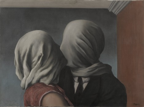 René Magritte, The Lovers, 1928, Museum of Modern Art, New York.