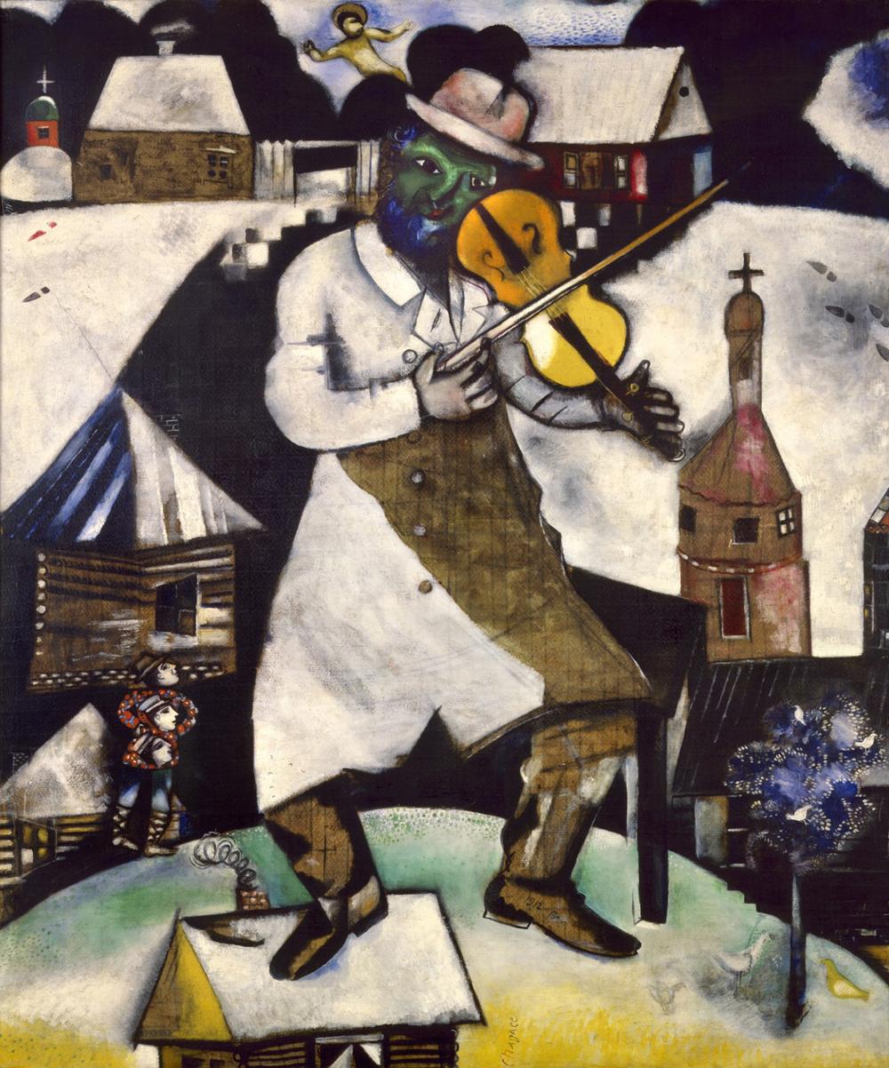 Marc Chagall,  The Fiddler , 1912, Stedelijk Museum, Amsterdam.