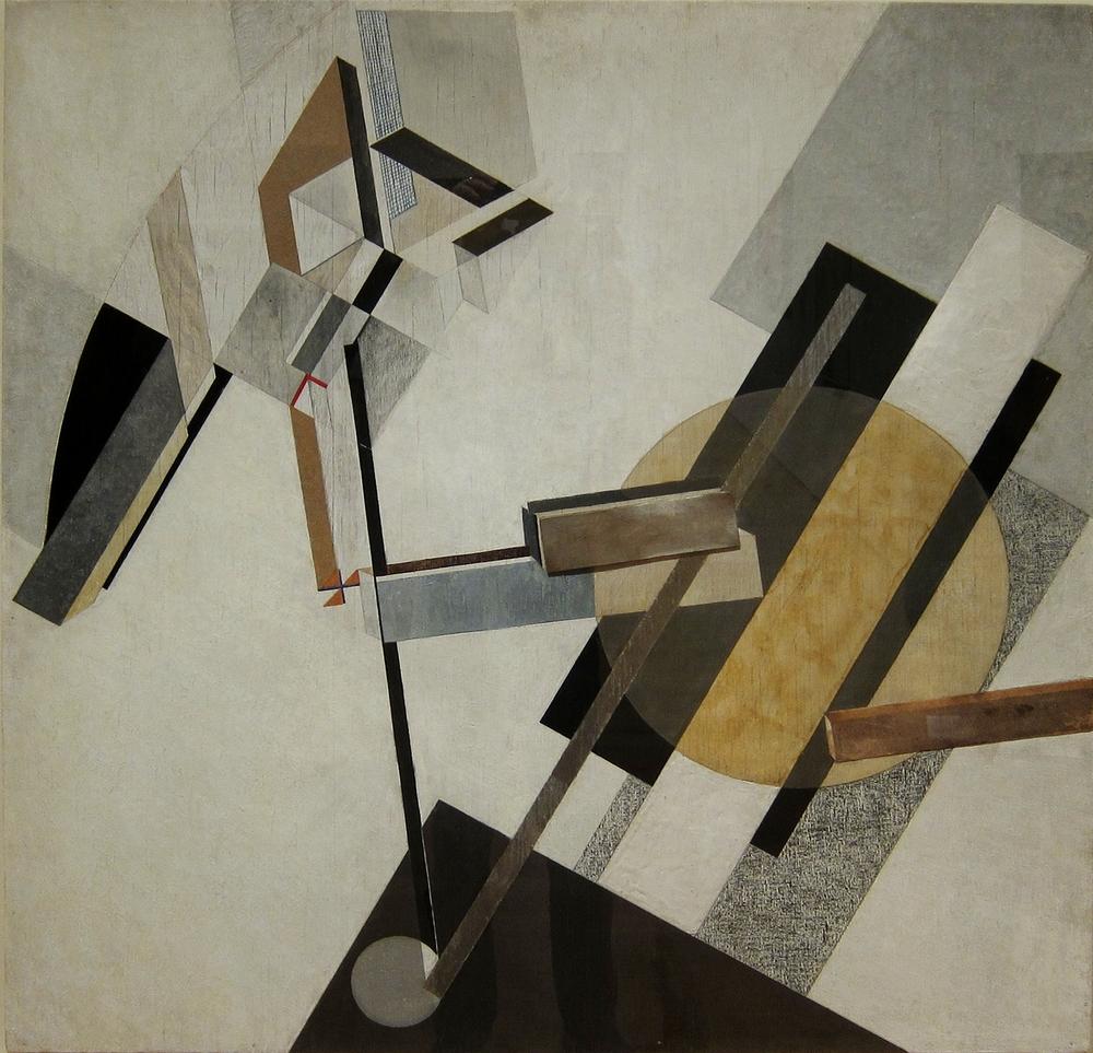El Lissitzky,  Proun , c.1922, Museum of Modern Art, New York.