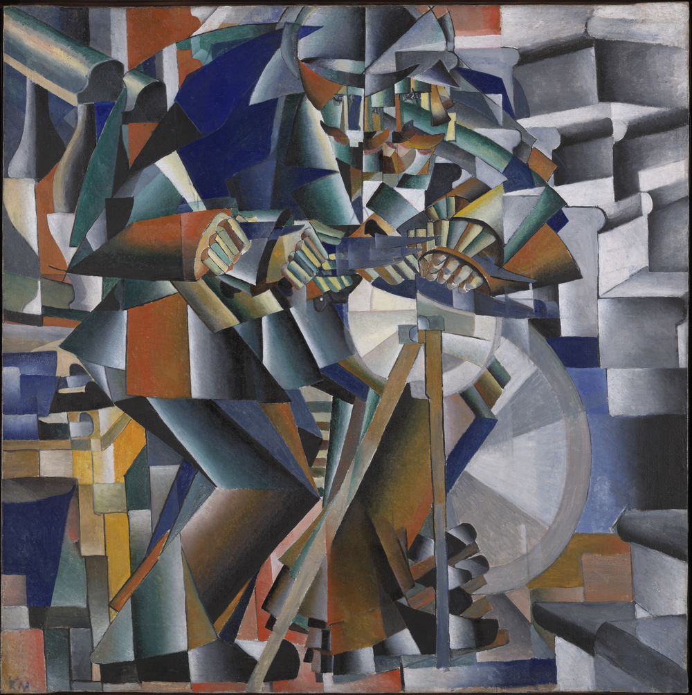 Kazimir Malevich, The Knife Grinder (Principle of Glittering), 1913, Yale University Art Gallery.