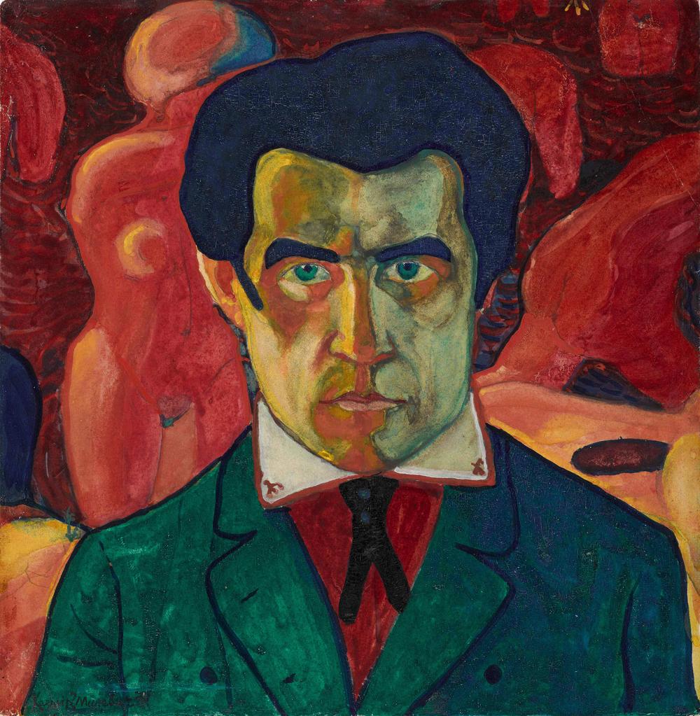 Kazimir Malevich,  Self-Portrait,  1908, Tetyakov Gallery, Moscow.