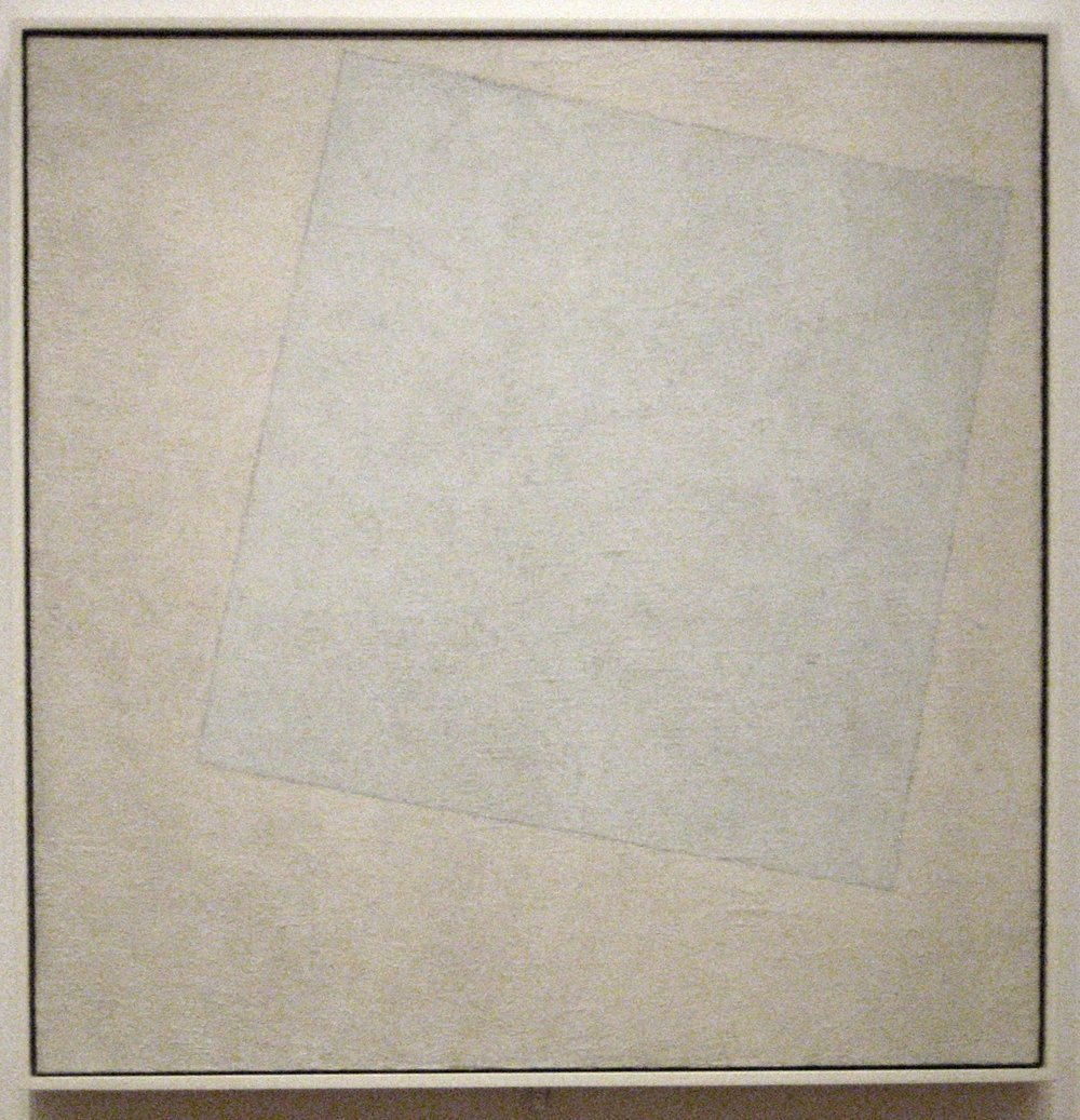 Kazimir Malevich, Suprematist Composition- White on White, 1918, Museum of Modern Art, New York.