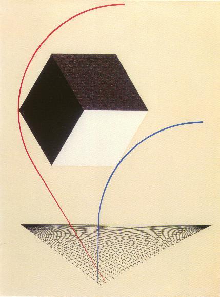 El Lissitzky,  A Proun , c.1925, Museum of Art, Rhode Island School of Design.